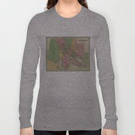 Vintage Map of Baltimore Maryland (1838) Long Sleeve T-shirt