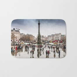 Trafalgar Square, London, at Christmas Bath Mat