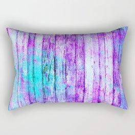 Pastel Rainbow Abstract Stripes Rectangular Pillow