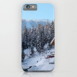 Canada Photography - Lodge In The Cold Canadian Forest iPhone Case