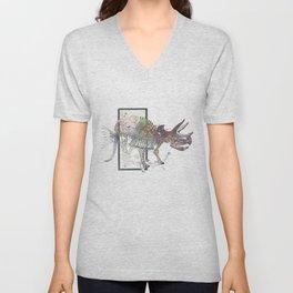 rose-Fish-bone dinosaur Unisex V-Neck
