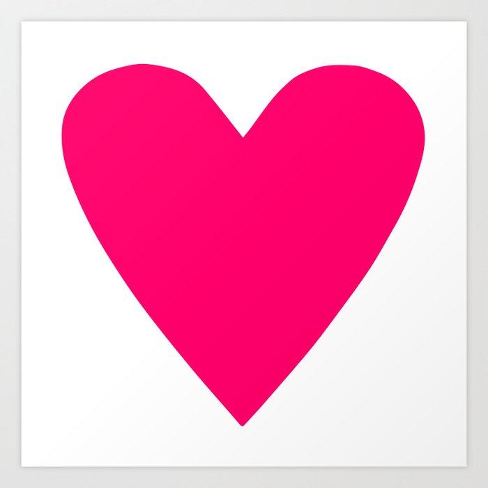 Neon Pink Heart Kunstdrucke
