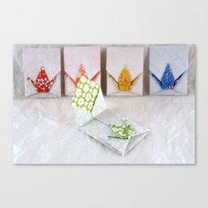 Origami Peace Crane Envelopes Canvas Print