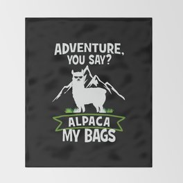 Alpaca My Bags  Travelling Throw Blanket