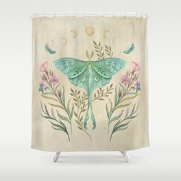 Luna and Forester - Oriental Vintage Shower Curtain