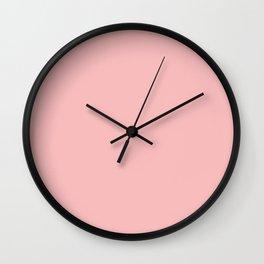 Solid Powder Pink Color Wall Clock