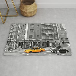 NYC - Yellow Cabs - Bagel Cafe Rug