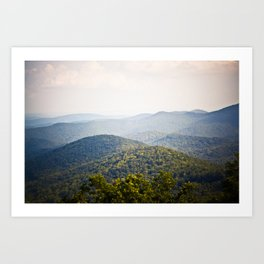 Blue Ridge Art Print