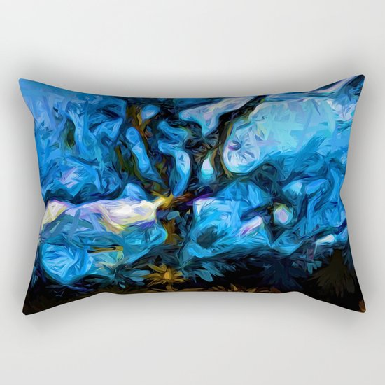 Tree Fights the Wind and Blue Sky Rectangular Pillow