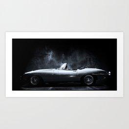 Jaguar E-Type XKE Profile Art Print