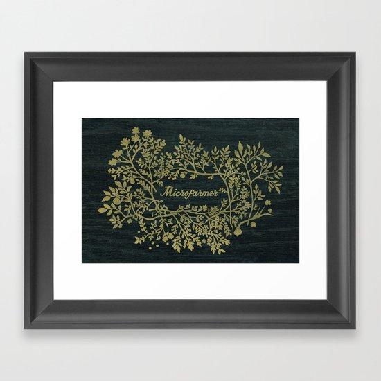 Microfarmer - Gold Framed Art Print