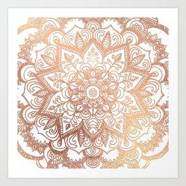 Mandala Rose-Gold Shine II Art Print