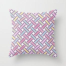 Color way Throw Pillow