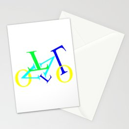 bicycle letters Stationery Cards