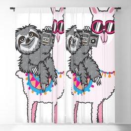 Sloth Music Llama Blackout Curtain