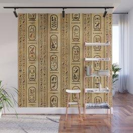 Egyptian hieroglyphs Vintage Texture Wall Mural
