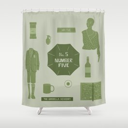 no.5 number five Shower Curtain