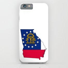 Georgia Map with Georgian Flag iPhone Case
