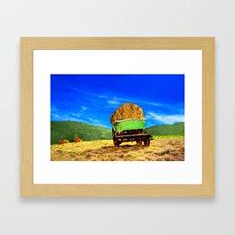 Hay Wagon Framed Art Print