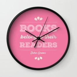 Books belong to Readers Wall Clock