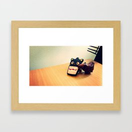 Kitty Kat and Leather Elephant Framed Art Print