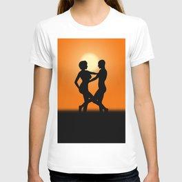 Sunset Dancing Lovers T-shirt