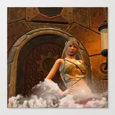 The wonderful steampunk lady Canvas Print