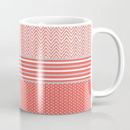 Ikat Coral Chevron Coffee Mug