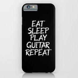 eat sleep play guitar repeat iPhone Case