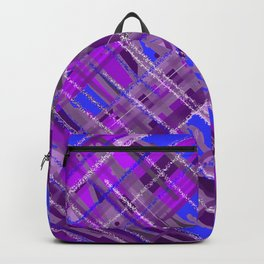 purple patchwork Backpack