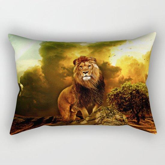 Lion V Rectangular Pillow