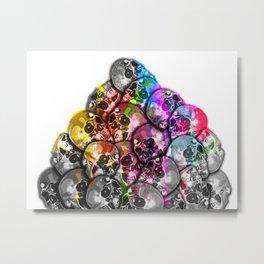 Color Splash Skulls Metal Print