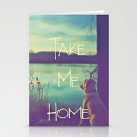 home sweet home Stationery Cards featuring HOME by Monika Strigel