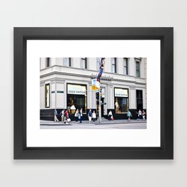 LV building Framed Art Print