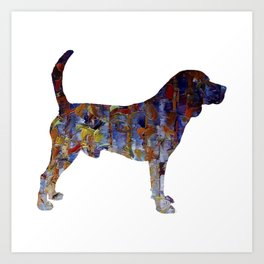 Beagle Oil Painting Art Print