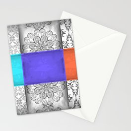 Abstract ornament and grunge texture background Stationery Cards