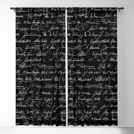 Literary Giants Pattern Blackout Curtain