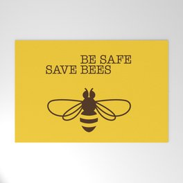 Be safe - save bees Welcome Mat