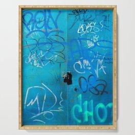 Urban Blue Style Street Graffiti Serving Tray