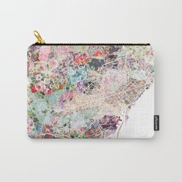 Barcelona map Carry-All Pouch