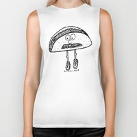 taco Biker Tanks featuring Taco by Addison Karl