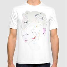 Marie Antoniette SMALL White Mens Fitted Tee