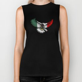 Flying Eagle Mexican Design Mexican Flag Design For Mexican Pride Biker Tank