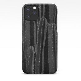 Cactus Black & White iPhone Case