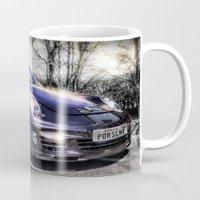 porsche Mugs featuring Porsche by ian hufton