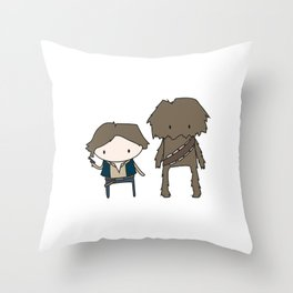 Han Solo & Chewie Throw Pillow