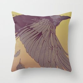 Electric Feathers Throw Pillow