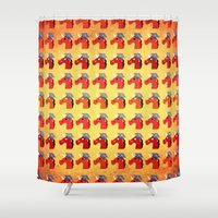 unicorns Shower Curtains featuring Graduate Unicorns by That's So Unicorny