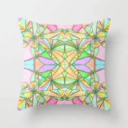 217 - Abstract distressed colourful design Throw Pillow