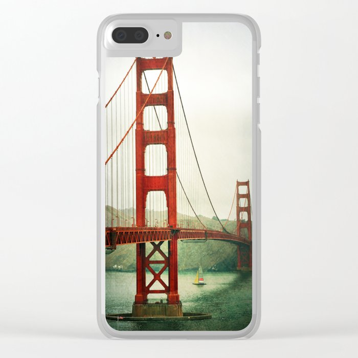 Golden Gate Clear iPhone Case